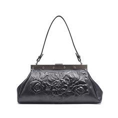 Patricia Nash Ferrara Tooled Leather Frame Satchel