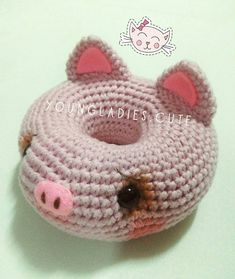 Crochet Amigurumi Patterns Free Crochet Pattern For A Piggy Donut Amigurumi Crochet Kingdom Crochet Amigurumi Patterns Free Crochet Pattern For A Piggy Donut Amigurumi Crochet Kingdom. Crochet Amigurumi Patterns Cuddle Me Bear Amigurumi Patte. Crochet Deer, Crochet Cat Pattern, Crochet Amigurumi Free Patterns, Crochet Food, Cute Crochet, Crochet Baby, Crocheted Toys, Crochet Animals, Crochet Toddler