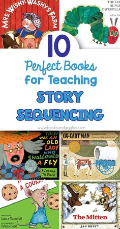 These books for teaching story sequencing and story retelling are favorites with kindergarten and preschool children. Story Sequencing, Sequencing Activities, Reading Activities, Guided Reading, Teaching Reading, Teaching Ideas, Early Reading, Reading Lists, Teaching Resources