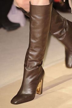 Salvatore Ferragamo Fall 2010 Knee-High Leather Boots