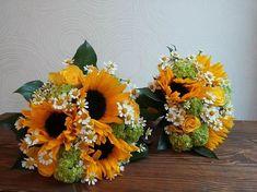 Výsledek obrázku pro svatební kytice slunečnice