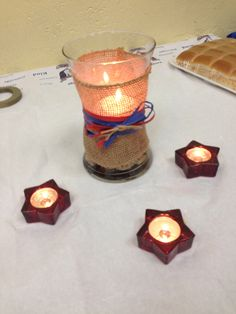 Eagle Scout court of honor centerpieces