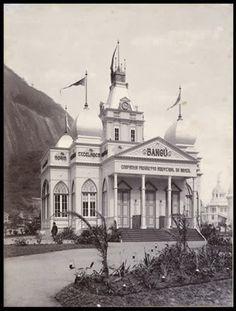 Pavilhão da Fábrica Bangu 1909. Lembrando uma pequena mesquita mourisca…