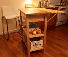 IKEA Hackers: Kitchen cart with drop leaf extension