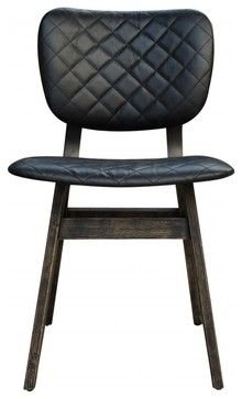 What do you guys think of this chair? Sloan Chair, Black Leather - contemporary - Dining Chairs - Bobby Berk Home