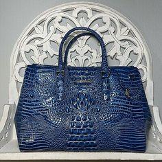 Brahmin Blake Satchel Bluebonnet Melbourne Leather | eBay Brahmin Handbags, Brahmin Bags, Blue Bonnets, Melbourne, Dust Bag, Satchel, Cobalt Blue, Leather, Ebay
