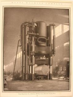 Mesta Machine Company, Forge Department No.3 showing the two 2,000 ton steam-hydraulic forging press