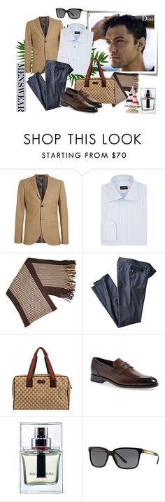 """Wardrobe Basics: Menswear"" by molnijax ❤ liked on Polyvore featuring Post-It, Dior Homme, Topman, Ermenegildo Zegna, Geoffrey Beene, Gucci, Christian Dior, Versace, mens and men"