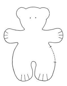 patrones para hacer osos de fieltro