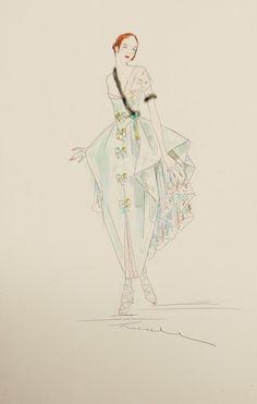 Lucille Fashion Sketch 1916