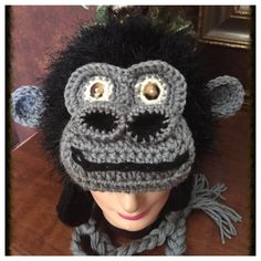Crochet Gorilla, Ape Hat