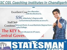 Statesman Academy   is a professional and leading academy in Chandigarh. It is the best academy that offers affordable coaching in Chandigarh with flexible timing. We have a great team of expert trainer that know how to easily train their students for crack SSC exam at first attempt and we also offer a complete study material for examination.