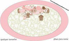 Passarinhos e Flores – Kit Completo com molduras para convites, rótulos para guloseimas, lembrancinhas e imagens! | Fazendo a Nossa Festa
