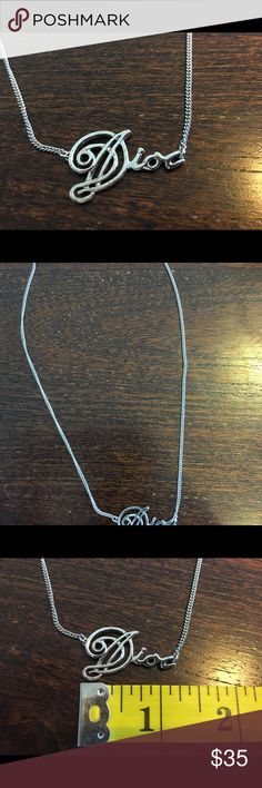 Authentic Dior silver short chain necklace Channel your inner Carrie Bradshaw with this Sex in the City classic. 17.5 inch chain. Some tarnishing on the medallion the night clean up with some attention. Cool nostalgic piece. Dior Jewelry Necklaces