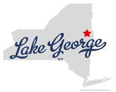 Map of Lake George New York NY