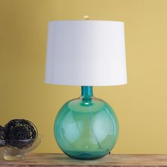 Round Glass Jug Table Lamp 4 colors!