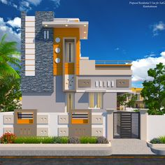 Readymade independent Duplex House in Kumbakonam for Sale and Occupation  House Front Wall Design, House Balcony Design, House Outer Design, House Arch Design, House Main Gates Design, Single Floor House Design, Modern Small House Design, House Outside Design, Village House Design