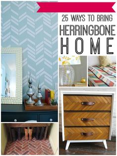 25 Herringbone Projects for Your Home