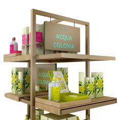 Product presenter designed by studio a. Aqua, Presents, Retail, Studio, Storage, Design, Home Decor, Modern Table, Gifts