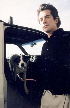 John Kennedy with his dog, Friday