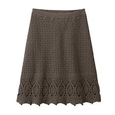 a cool crochet skirt