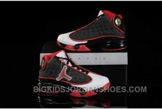 buy popular 40be9 cd709 Hot Nike Air Jordan 13 Kids Black Red White Shoes