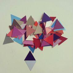 TRIANGLES (serie n° 02) 2013  http://www.marucarranza.com/triangles-serie-n-02-2013/  #marucarranza #art #paper #berlin #collage #triangle