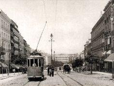Calle alcalá 1905. Al fondo Cibeles