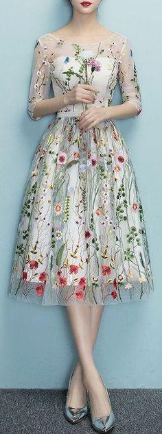 19 Trendy Wedding Dresses Vintage A Line Flower Girls Wedding Dresses Plus Size, Trendy Dresses, Nice Dresses, Casual Dresses, Fashion Dresses, Summer Dresses, Dress Wedding, Ivory Wedding, Wedding Shoes