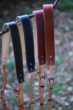Japanese leather camera straps by ROBERU.