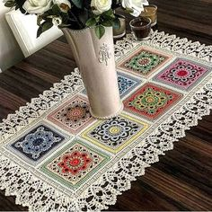 color-motif-is-motifs ranna – crochet pattern Crochet Motifs, Crochet Mandala, Crochet Squares, Crochet Doilies, Crochet Flowers, Cotton Crochet, Crochet Granny, Cotton Lace, Square Patterns