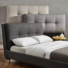 Dallan King Size Plush Tufted Padded Headboard Bed iNSPIRE Q Modern