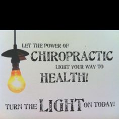 Let the power of #chiropractic light your way to health.