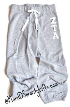 Zeta Tau Alpha Capri Sweats - style i