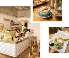 SPEISEREI im Schillerkiez in Neukölln ein neues Café: Die No.58 Speiserei – eher klein, zwei Räume, aber trotzdem genug Platz um für sich zu sein, und das in schöner, einfacher Einrichtung. Und dazu noch mit allem, was das Herz begehrt: sehr gutem Kaffee (von Bonanza Coffee), Lebensmittel aus dem Umland, bestem Brot und Eiern (die Markthalle Neun beliefert). Es gibt Avocado-Schokoladen-Brot, Gurke-Birne-Apfelsaft, Birne-Rum-Kuchen, Joghurt mit Früchten, Birchermüesli, Rosinenschnecken…