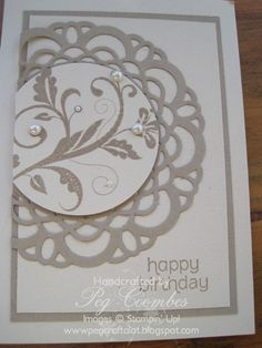 Stampin Up UK Demonstrator UK Pegcraftalot Order Stampin Up HERE: Stampin' Up!Large Delicate Doilies