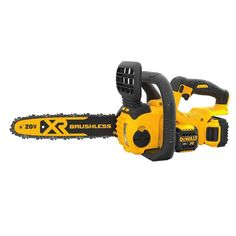 Model: FAO SKU: Add versatility to your MAX cordless system with the brushless compact cordless chainsaw. This cordless chainsaw is built to handle tough construction and outdoor jobs. Best Electric Chainsaw, Best Chainsaw, Mini Chainsaw, Chainsaw Chains, Battery Powered Chainsaw, Chainsaw Reviews, Outdoor Jobs, Garage Atelier, Dewalt Power Tools