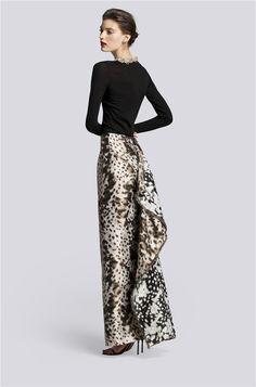 Carolina Herrera vestido largo de dos piezas