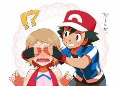 Lol ash and serena nintendo art and fan art ash pokemon, pokemon ash, ser.
