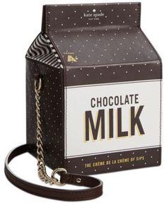 kate spade new york Crème de la Dipped Milk Container Crossbody   macys.com