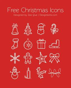 Free Christmas Icons #freepsdfiles #flatdesign #flatpsdtemplates #webelements #uikits #vectoricons