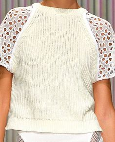 Decorialab Trend Report - Knit and Fabric Mixed - S/S 2014 - Tracy Reese Knitwear Fashion, Knit Fashion, Fashion Fabric, Tracy Reese, Summer Knitting, 2014 Trends, Knitting Designs, Refashion, Diy Clothes