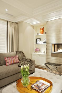 Living Room Cream Shelves Design Ideas, Pictures, Remodel, and Decor - page 46