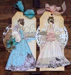 Prima Mixed Media Doll Stamps - Lorrena and Swing Dress