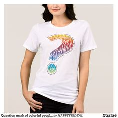 Question mark of colorful people - Shirts