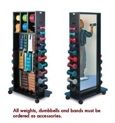 Hausmann Combination Weight Storage Rack - Accessorized - Free Dock to Dock Shipping