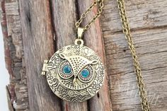 harry potter jewerly Owl Locket Necklace Pendant by hannahome, $2.60