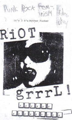 Riot Grrrl split zine. Have it! <3 Riot Grrrl, Arte Punk, Punk Poster, Oldschool, Punk Goth, Post Punk, Doodles, Rock Art, Screen Printing