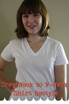 How to make a crew neck T-shirt into a (very nice looking) V-neck T-shirt