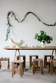 Tables & chairs by Timbermill • Foliage by The Flower Era • Photo by Luisa Brimble